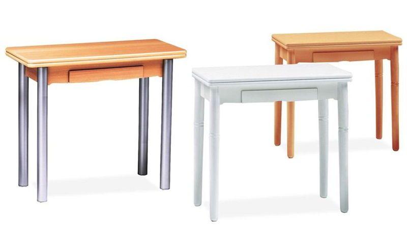 Mesas de cocina mesa cocina extensible con cajon for Mesas de cocina extensibles con cajon
