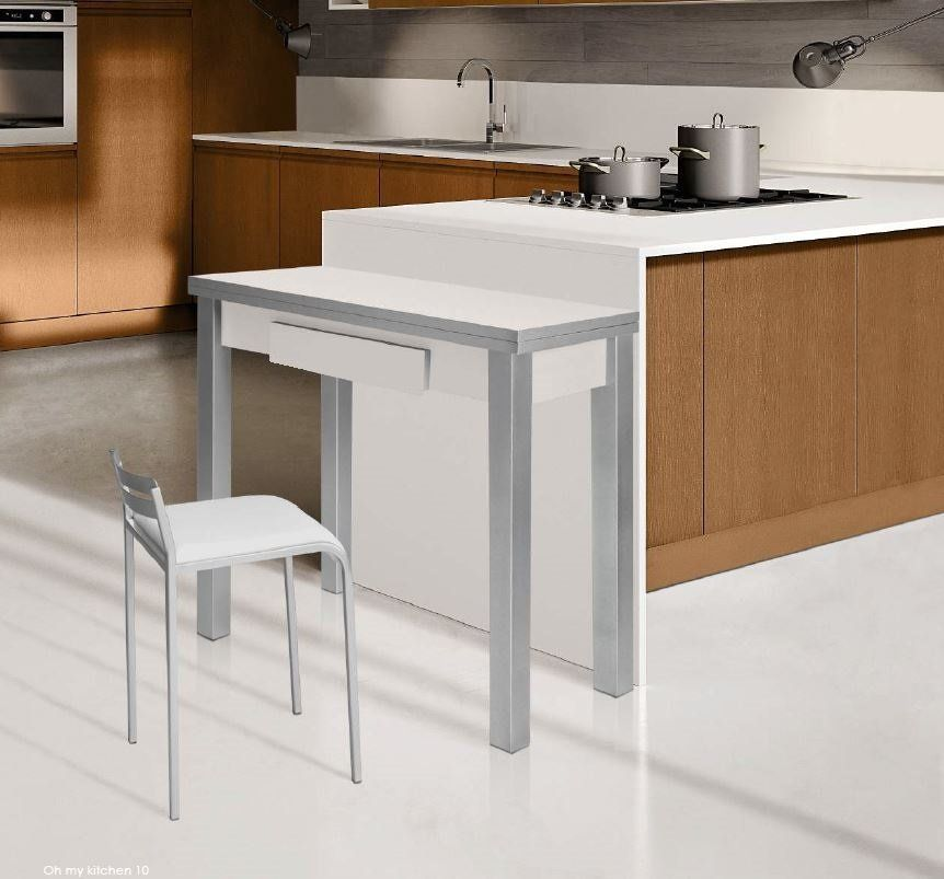 Mesas De Cocina : Mesa Cocina Extensible Blanca