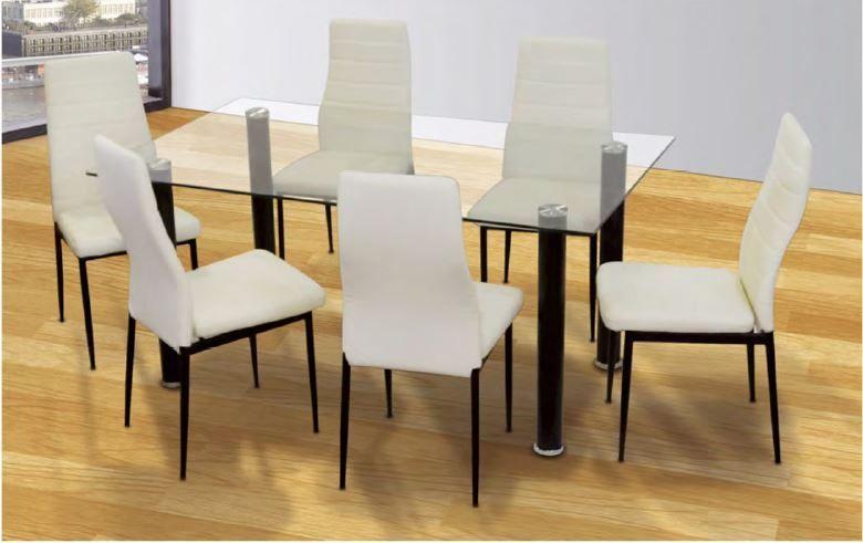 Mesas De Comedor : Mesa Comedor + 6 SILLAS POLIPIEL